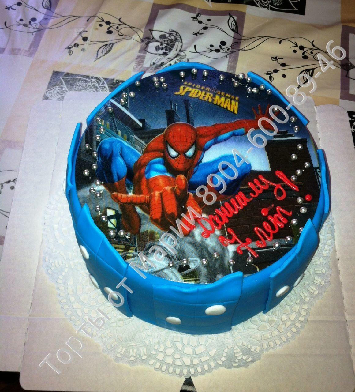 человек паук картинка для торта
